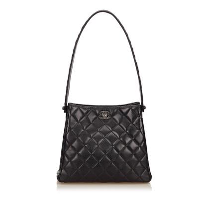 Chanel Gesteppte Lammfell Leder Umhängetasche
