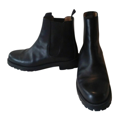 Hermès Black leather boots