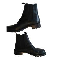 Hermès Black leather boots