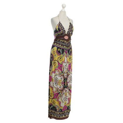 Sky Maxi dress with pattern