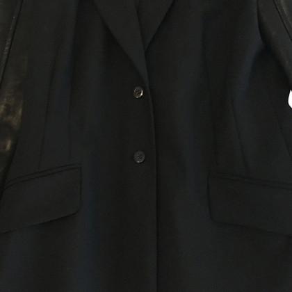 Richmond Blazer con maniche in similpelle