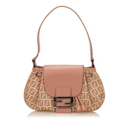 Fendi Zucchino Jacquard Shoulder Bag