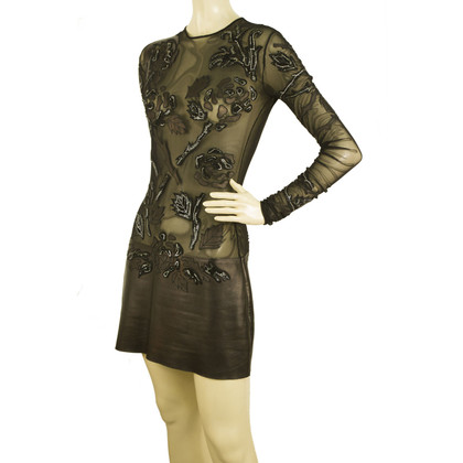 Jitrois Leather dress with tulle