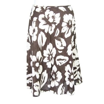 Hobbs Linen skirt with pattern