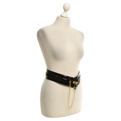 Moschino Leather Belt zwart