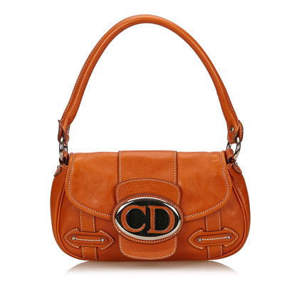 Christian Dior Leren schouder tas