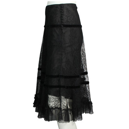John Galliano zwarte rok
