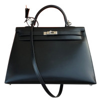 "Hermès ""Kelly Bag 35"" from Box Calf leather"