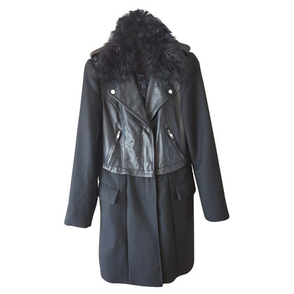 Blonde No8 Parka with leather details