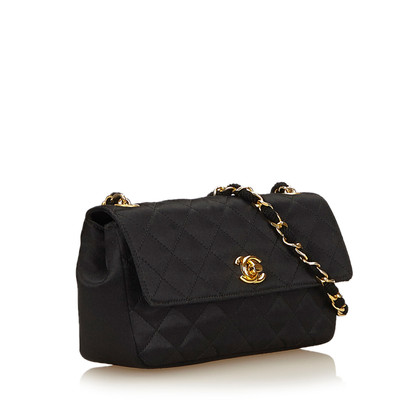 Chanel Quilted Satin Chain Flap
