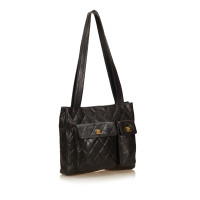 Chanel Lambskin Pocket Shopping Tote