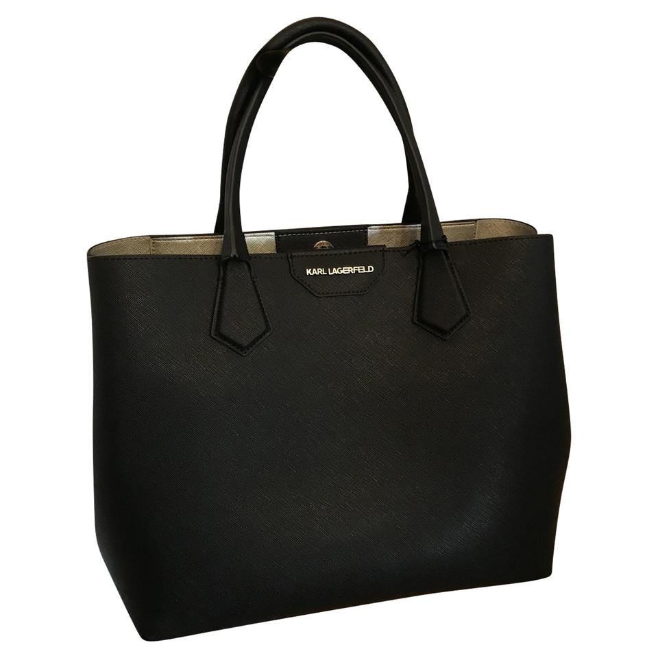 karl lagerfeld handtasche in schwarz second hand karl lagerfeld handtasche in schwarz. Black Bedroom Furniture Sets. Home Design Ideas