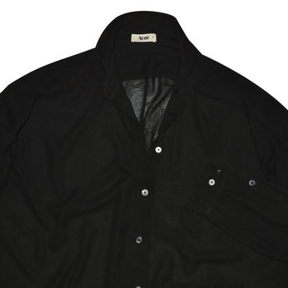 Acne Schwarze Bluse