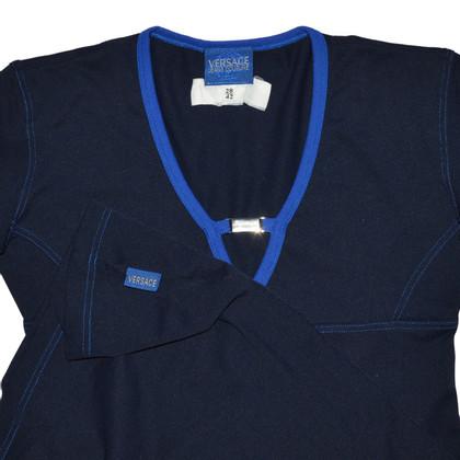 Versace Vestito blu con logo