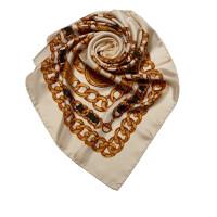 Chanel Chain Pattern Silk Scarf