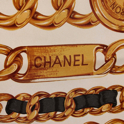 Chanel Chain Pattern Silk Scarf