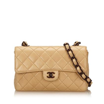 Chanel Mittel Lammfell Leder Überschlagtasche