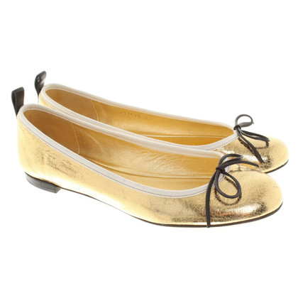 Gucci ballerine color oro