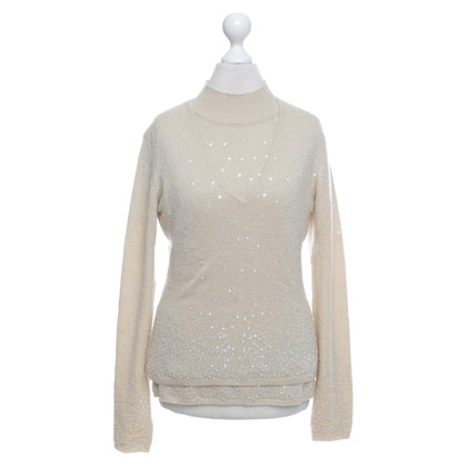 Mugler Cashmere twin set in beige