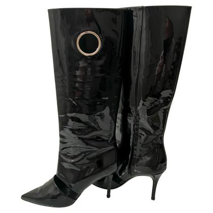 Salvatore Ferragamo Patent Leren Boots
