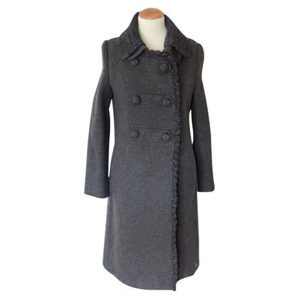 Prada cappotto di tweed grigio