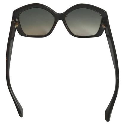 Balenciaga Gold and chocolate oversize sunglasses