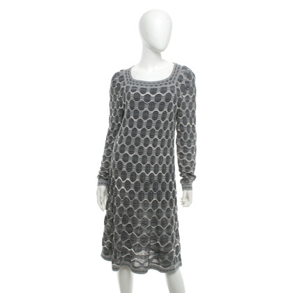 Missoni Patterned dress in grey / white