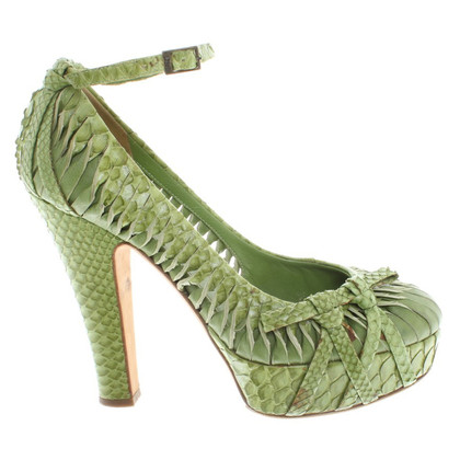 Christian Dior pumps made of reptile leather