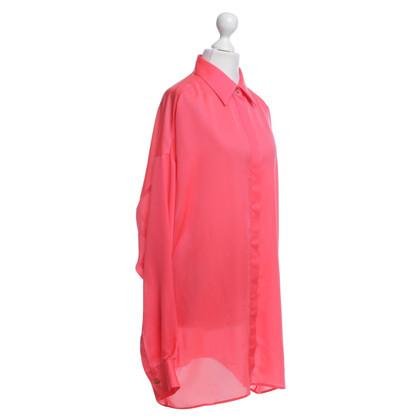 Versace Zijden blouse in neonroze