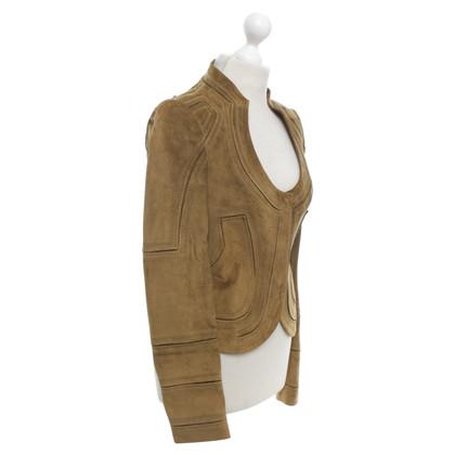 Gucci Suede jacket in ocher