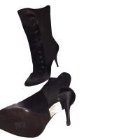 Balmain Silk Button Boots