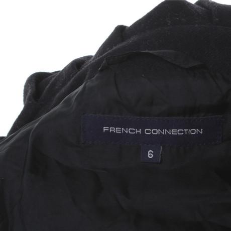 French Connection Mantel in Schwarz Schwarz Verkauf Günstiger Preis 2hIEYK