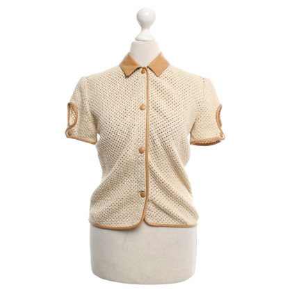 Other Designer Kiton - leather shirt in cognac