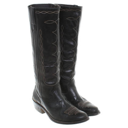 Golden Goose Cowboy boots in black