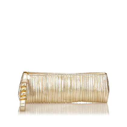 Miu Miu Metallic-Leder clutch