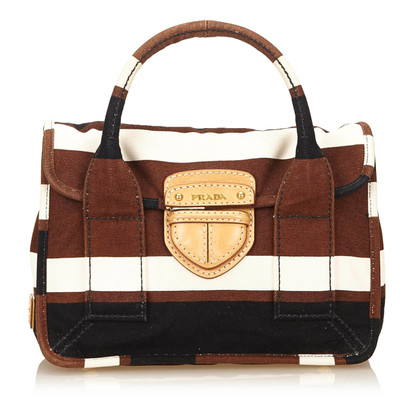 Prada Canapa Stripe Canvas Piccola Pattina