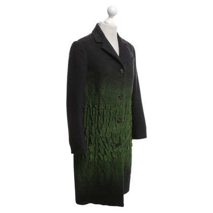 Prada Coat in anthracite / green