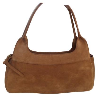 Salvatore Ferragamo Handtasche aus Wildleder