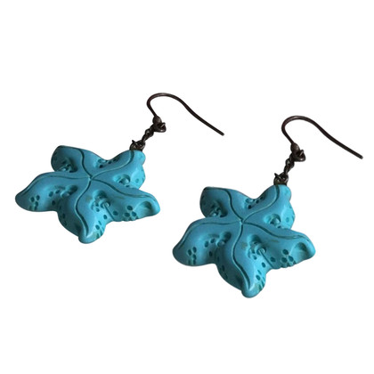 N.d.c. Made by Hand Earrings in silver / turquoise