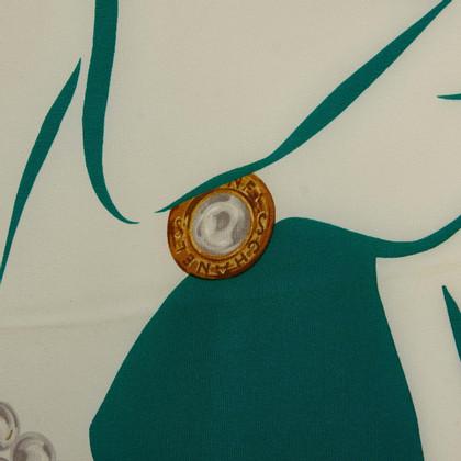 Chanel Coco Print Silk Scarf