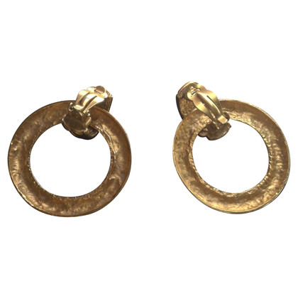 Chanel Vintage quilted earrings
