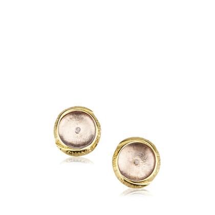 Chanel Enamel Gold-Tone Clip-On Ohrringe
