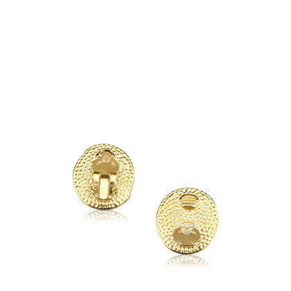 Chanel Enamel Gold-Tone Clip-On Earrings