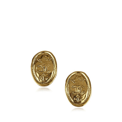 Chanel Boucles d'oreilles en forme d'or