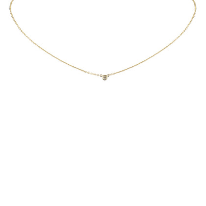 Tiffany & Co. 18K Diamond By The Yard Pendant Necklace