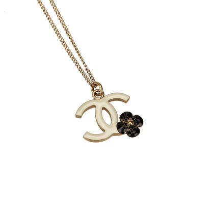 Chanel CC and Camellia Pendant Necklace