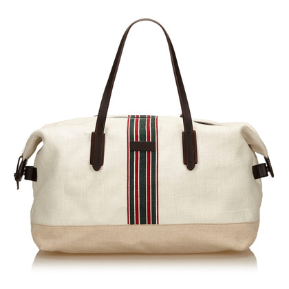 Gucci Canvas Web Duffel Bag