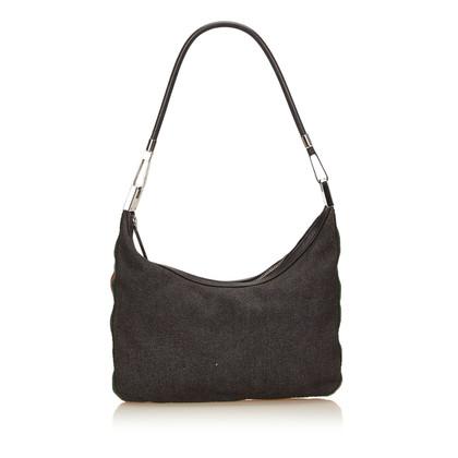 Gucci Web Denim Shoulder Bag