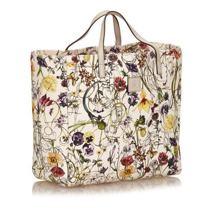 Gucci Canvas Floral Tote Bag
