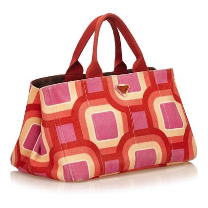 Prada Printed Canapa Tote Bag